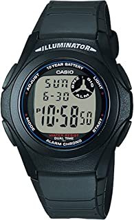 Casio F-200W-1A Youth Illuminator Black Digital Sports Watch