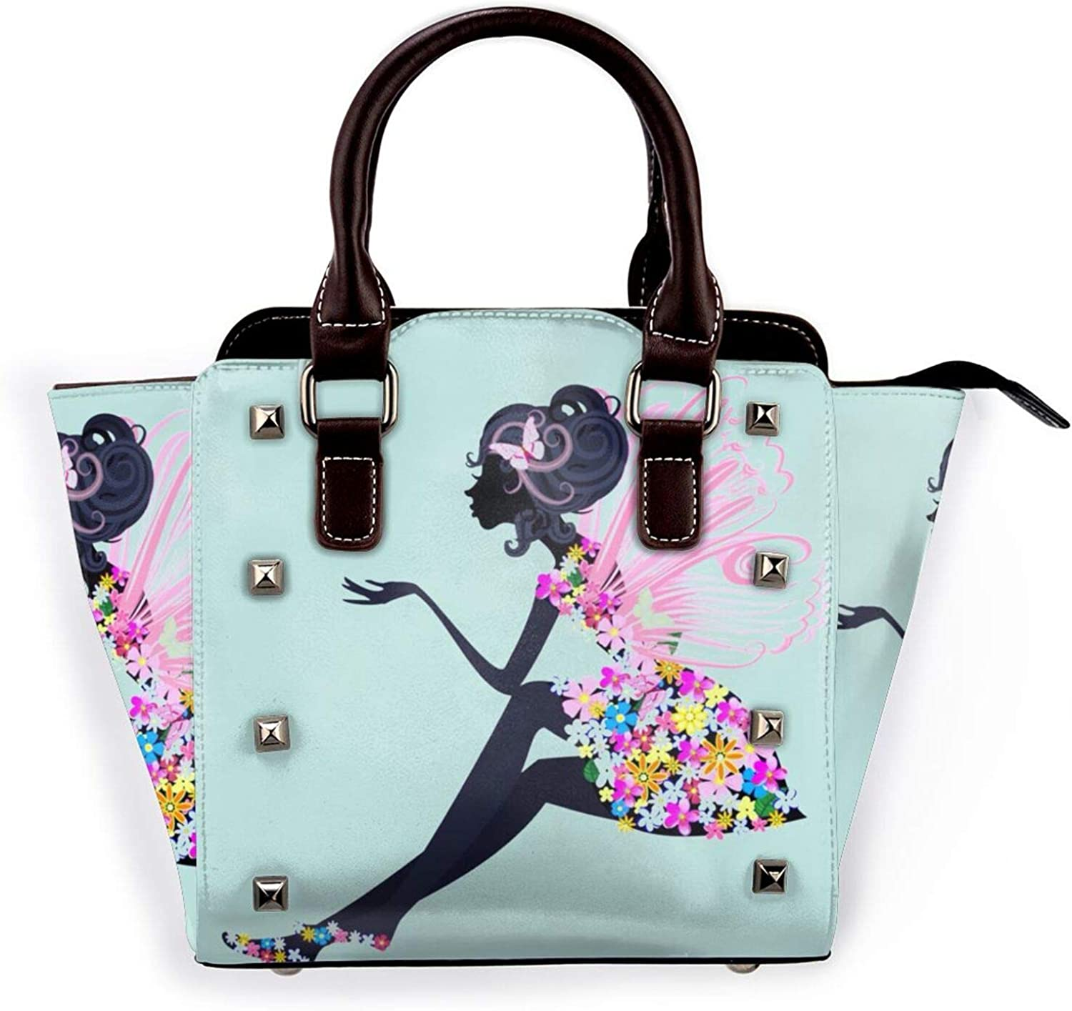 Leather Rivet Shoulder Bag In New products world's highest quality popular A Sunflow Be Full Of Tucson Mall Roses World