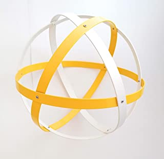 Genesa Crystal, Purificatore energia, Genesacolor 32 cm diametro,bianco e giallo