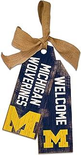 Team Color NCAA Michigan Wolverines Unisex University of Michigan Team Tags 12 inch