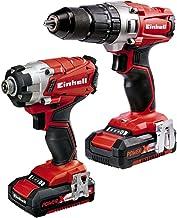 Einhell 4257214poder X-Change 2.0Ah 18V Combi Taladro Y Atornillador De Impacto–Pack de 2–rojo