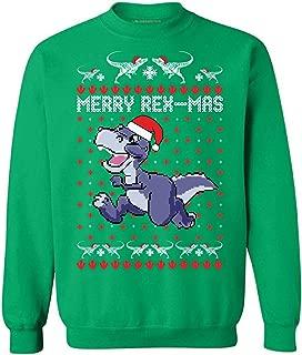 Merry Rex-Mas Xmas Sweatshirt Dinosaur Ugly Christmas Sweater