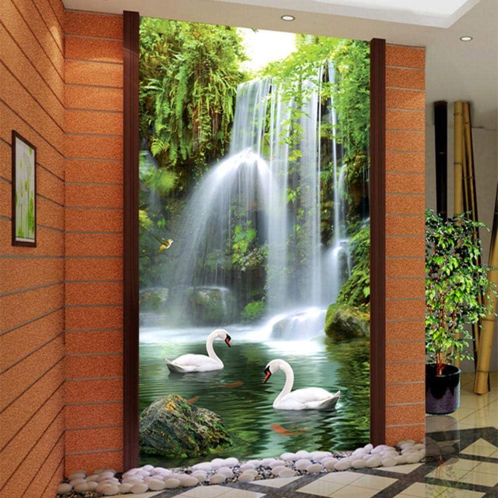 Rare MAZF Custom Wall Cloth 3D Waterfalls Swan Photo Max 61% OFF Wal Murals White