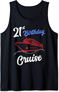 21st Birthday Cruise Group Matching Vacation Apparel Gifts Tank Top