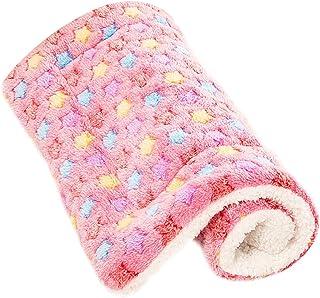 Mantas para Perros Gato Cama Fundas Lavable Calentar S M L XL (S:50*32 CM, rosado)