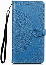 Wuzixi Case for Huawei Y3 2017/Y3 2018. Anti-Scratch, Flip Case Side suction Kickstand Feature Card Slots Case, PU Leather Folio Cover for Huawei Y3 2017/Y3 2018.Blue