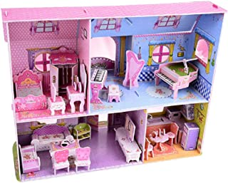 Laughing Surprise Doll Size 3D Cardboard Dollhouse and Furniture from Chunks of Charm