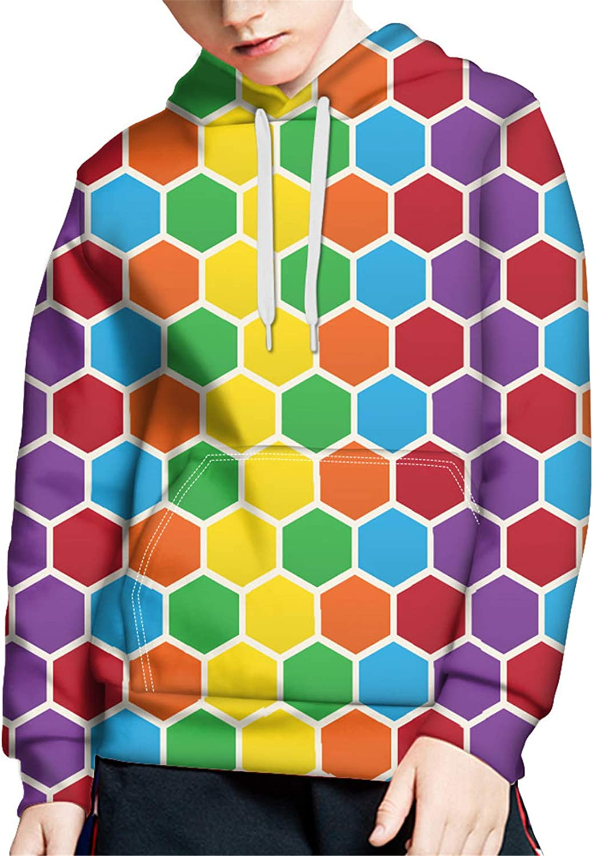 ZFRXIGN Boys Girls Hoodies Teens Youth Pullover Sweatshirt with Drawstring Pockets S-XL