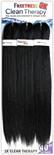 """Freetress Synthetic Braid 3X CLEAN THERAPY 40"""" (1B Off Black)"""