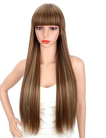 Blonden strähnen haare mit braun Braune haare