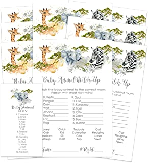 Jungle Name the Baby Animal Shower Game - 25 Pack