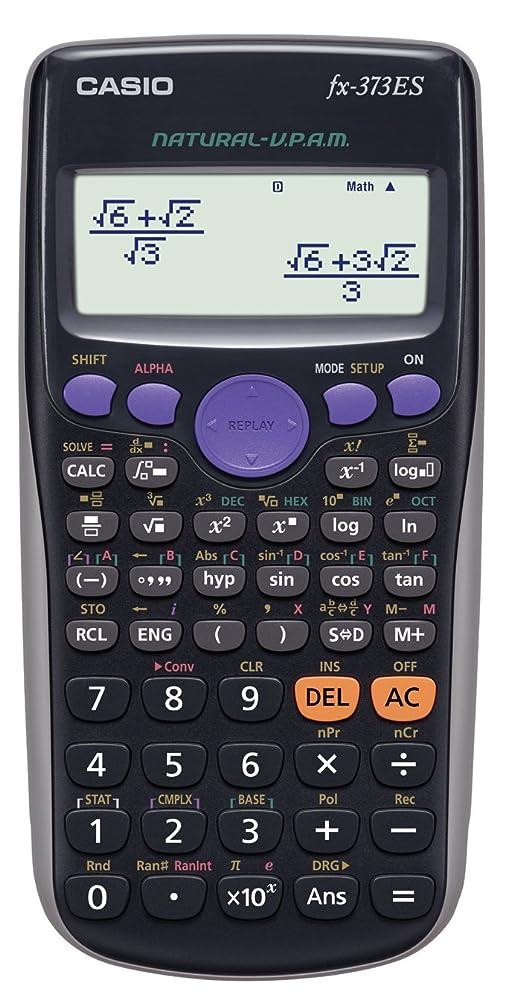 美容師郵便屋さん聖なるカシオ 関数電卓 数学自然表示 286関数 10桁 fx-373ES-N ブラック