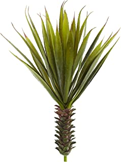 Nearly Natural 6159-S2 Spiky Agave Succulent Plant (Set of 2), 2 Piece