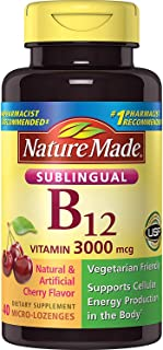Nature Made Vitamin B-12 3000 MCG Sublingual, 40 Count (Pack of 3)