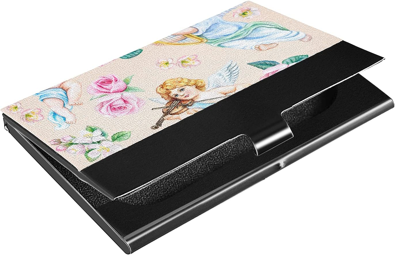 OTVEE Cute Baltimore Mall Cupid Angels Flowers Card Stai 2021 spring and summer new Business Wallet Holder