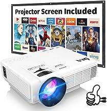 VGA Smartphone Tablet TV Videoprojektor f/ür Home SD Schwarz AV Mini Beamer ODLICNO 1080P Full HD Beamer Heimkino Video Projektor Tragbar 20000 Stunden LED Kompatibel mit HDMI USB