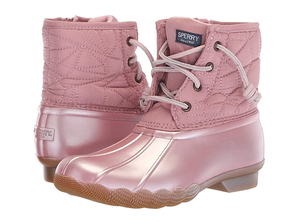 Sperry Kids Saltwater Boot (Little Kid/Big Kid) (Pearlized Blush Synthetic) Girls Shoes