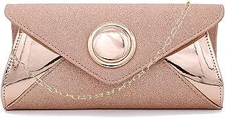 Gabrine Womens Shiny Sequins Evening Bag Ring Lady Shoulder Bag Envelope Bag Handbag Clutch Purse for Wedding Prom Party