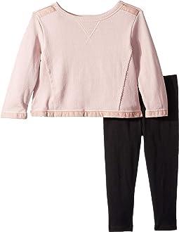 Velvet Mixed Media Sweatshirt Set (Toddler)