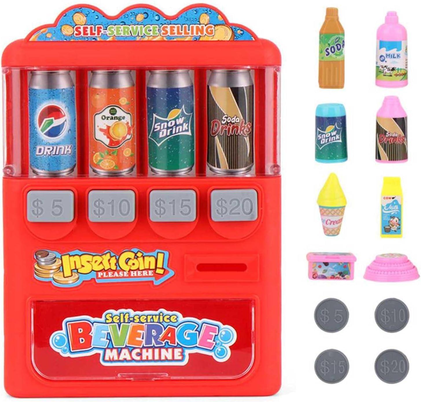 luukiy Máquina expendedora de Juguetes para niños, Juego de simulación de Compras, Juego de rol, Juguetes de Aprendizaje para niños