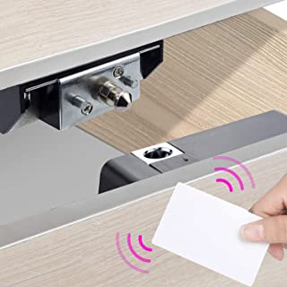 ALLWIN INC Electronic Cabinet Lock Card Locker Hidden DIY Kit Fit for Wooden Drawer Cabinet,Drawer,Shoe Cabinet with RFID ...