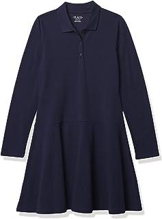 فستان بولو للفتيات بأكمام طويلة من ذا تشيلدرنز بليس