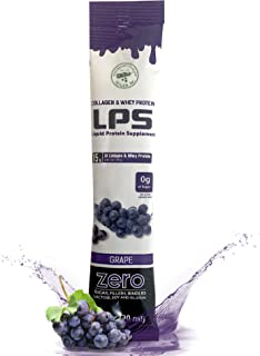 LPS Liquid Collagen & Whey Protein Supplement - Non-GMO Drink, Sugar-Free - Promotes Healthy Skin & Hair fo...