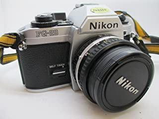 Nikon FG 20 35mm SLR Film Camera Body with Nikon Series E 50mm f1.8 Lens