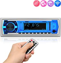 Pyle Marine Bluetooth Stereo Radio – 12v Single DIN Style Boat In dash Radio..