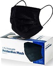 Face Masks Black 3 Layers (Pack of 50 PCS)
