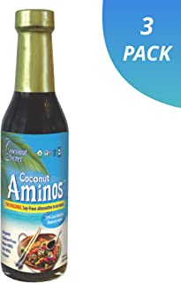 Coconut Secret Coconut Aminos (3 Pack) - 8 fl oz - Low Sodium Soy Sauce Alternative, Low-Glycemic - Organic, Vegan, Non-GM...