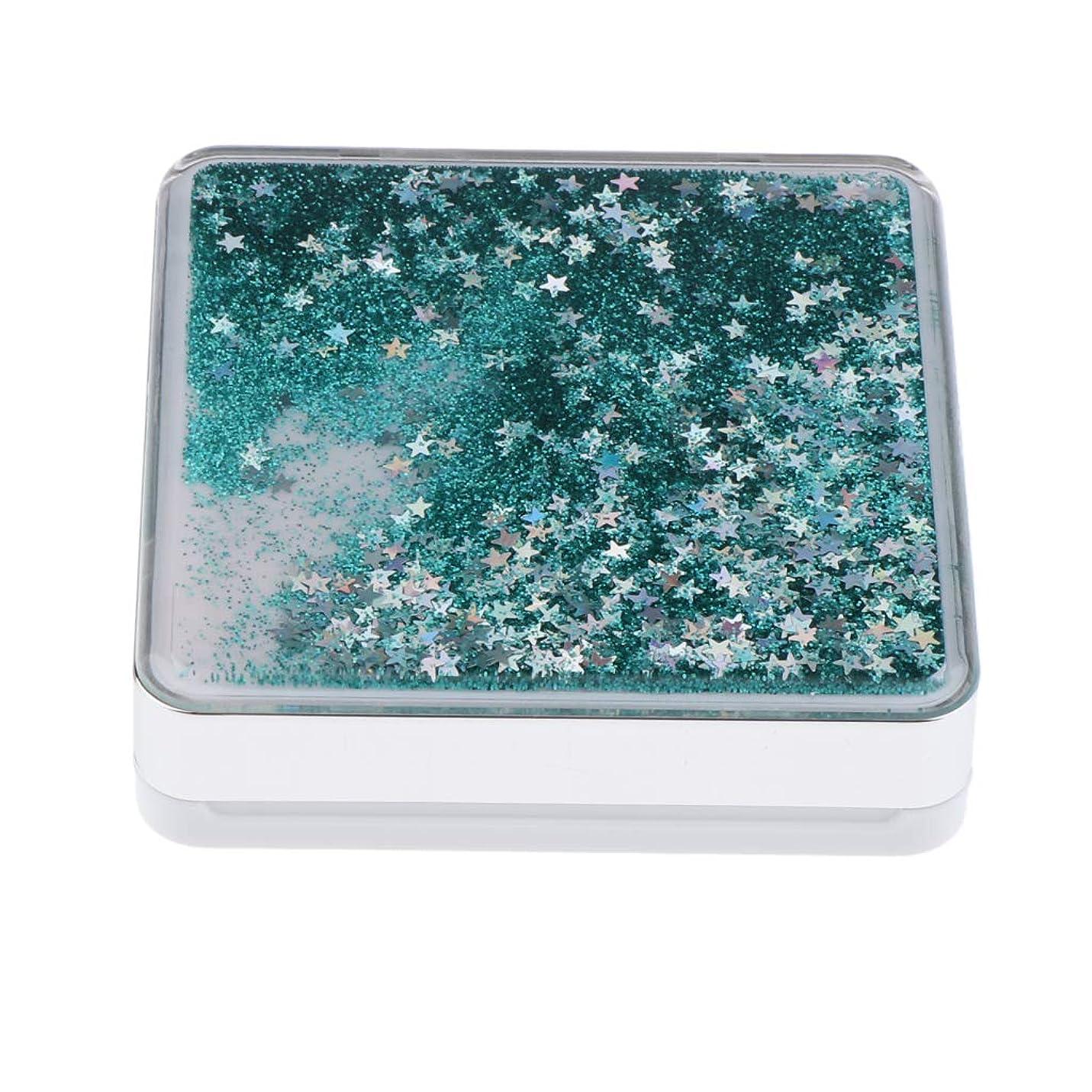 助けになる耐えられる余分なB Baosity エアクッションケース パフ 化粧鏡 ミラー付き コンパクト 旅行小物 化粧品ケース 3色選べ - 緑