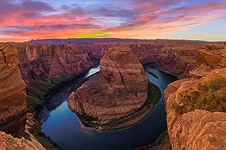 Colorado River Horseshoe Bend Near Grand Canyon Sunset Photo Cool Wall Decor Art Print Poster 36x24