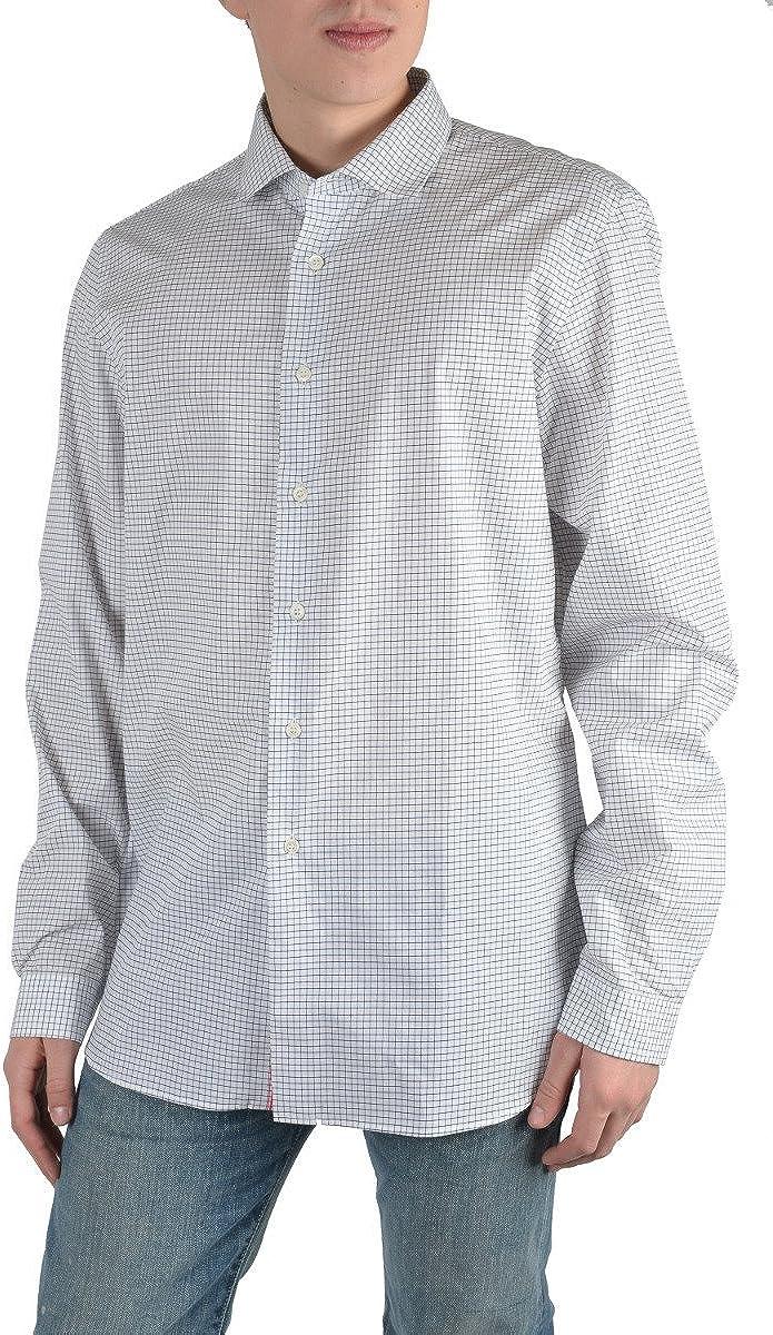 Prada Men's Multi-Color Plaid Long Sleeve Dress Shirt US 17 IT 43