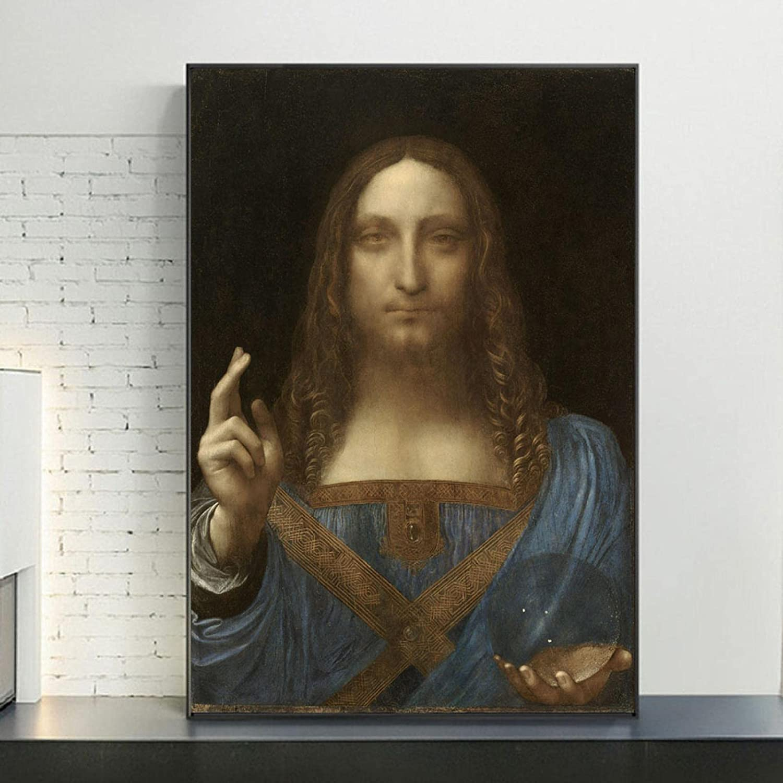 Salvator Mundi Art Portrait Columbus Selling Mall Posters Prints Reproductions Canvas