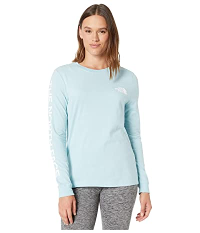 The North Face Long Sleeve Brand Proud Tee (Windmill Blue/TNF White) Women