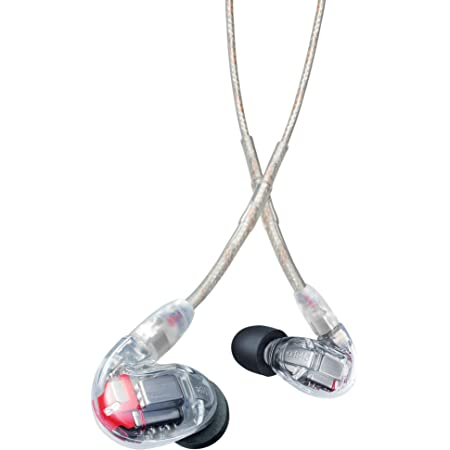 Shure SE846-CL Professional Sound Isolating Earphones with Quad High Definition MicroDrivers and True Subwoofer, Secure In-Ear Fit - Clear