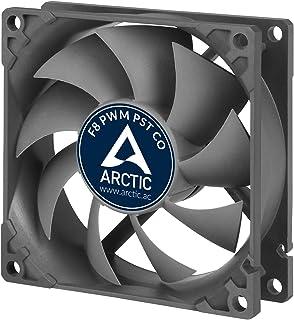 ARCTIC F8 PWM PST CO – 80 mm Ventilador de Caja para CPU con PWM Sharing Technology (PST) Motor Muy Silencioso con Funcionamiento Continuo, Computadora, 300-2000 RPM – Gris