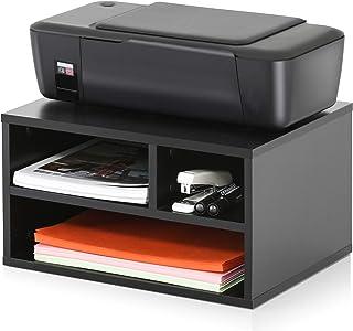 FITUEYES پایه های مخصوص چاپگرهای چوبی با نگهدارنده , میز کار برای فضای کار و خانه Office سیاه , DO304001WB