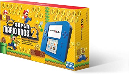 $84 » Nintendo 2DS - Electric Blue 2 with New Super Mario Bros. 2 (Game Pre-Installed) - 2DS (Renewed)