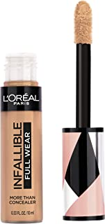 L'Oréal Paris Makeup Infallible Full Wear Concealer, Full Coverage, EXTRA LARGE Applicator, Waterproof, Multi-Use Concealer to Shape, Cover, Contour & Sculpt, Matte Finish, Walnut, 0.33 fl. oz.