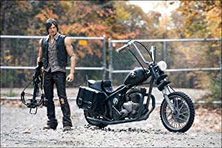 The Walking Dead TV Series / Daryl Dixon 5 inches action figures with chopper bike deluxe box set by McFarlane Toys