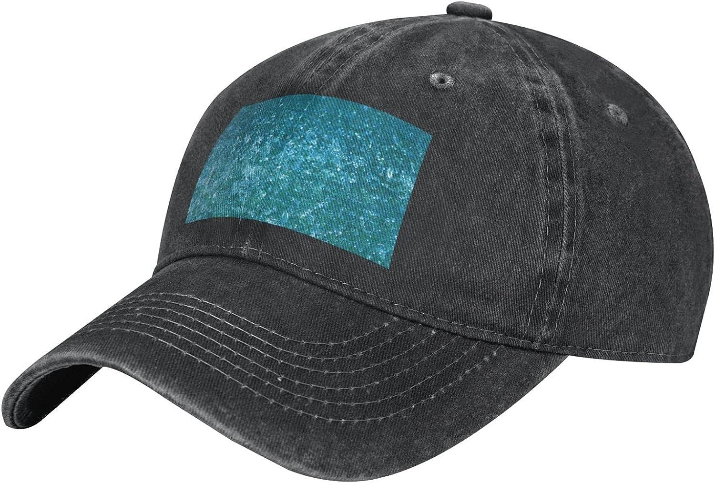 Ocean rain Adult Casual Cowboy HAT, Mens Adjustable Baseball Cap, Hats for MENOcean rain Black