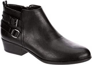 Stacie - Women's Low Heeled Short Dress Zip-up Ankle Boot