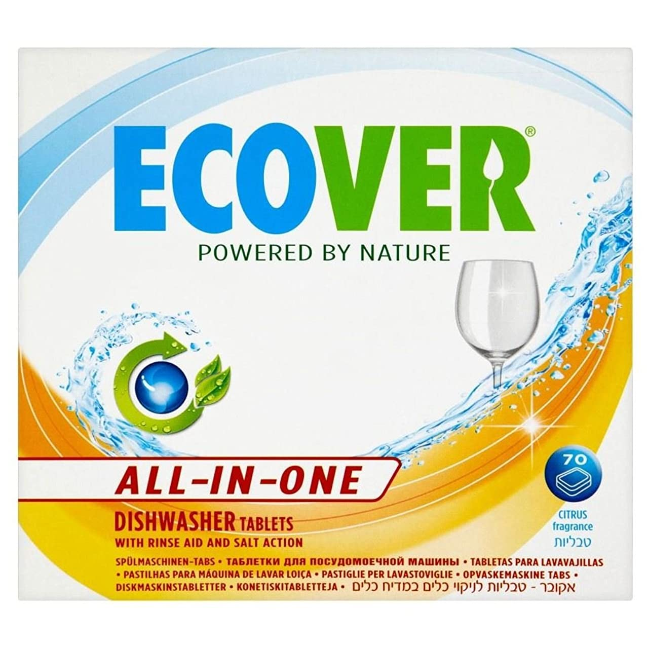 ウイルススローガン処理Ecover All-In-One Dishwasher Tablets (70 per pack) エコベールオールインワン食器洗い機錠剤(パックあたり70 )