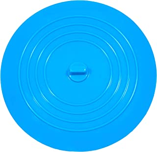 VRPOWER Silicone Tub Stopper, Premium Bathtub Rubber Drain Stopper, One of The Best Sealing Sink Stopper, Upgraded Drain Plug for Kitchens, Bathrooms and Laundries (6 inches) (Blue)