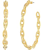 Kate Spade New York - Chain Reaction Link Hoops Earrings