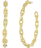 Kate Spade New York - Chain Reaction Link Hoops Earrings