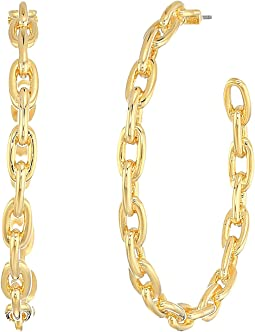 Chain Reaction Link Hoops Earrings