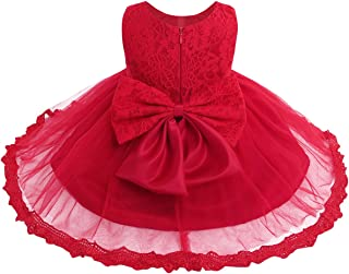 TiaoBug Infant Baby Toddler Girls Floral Lace Princess Wedding Bridesmaid Formal Pageant Easter Party Dress